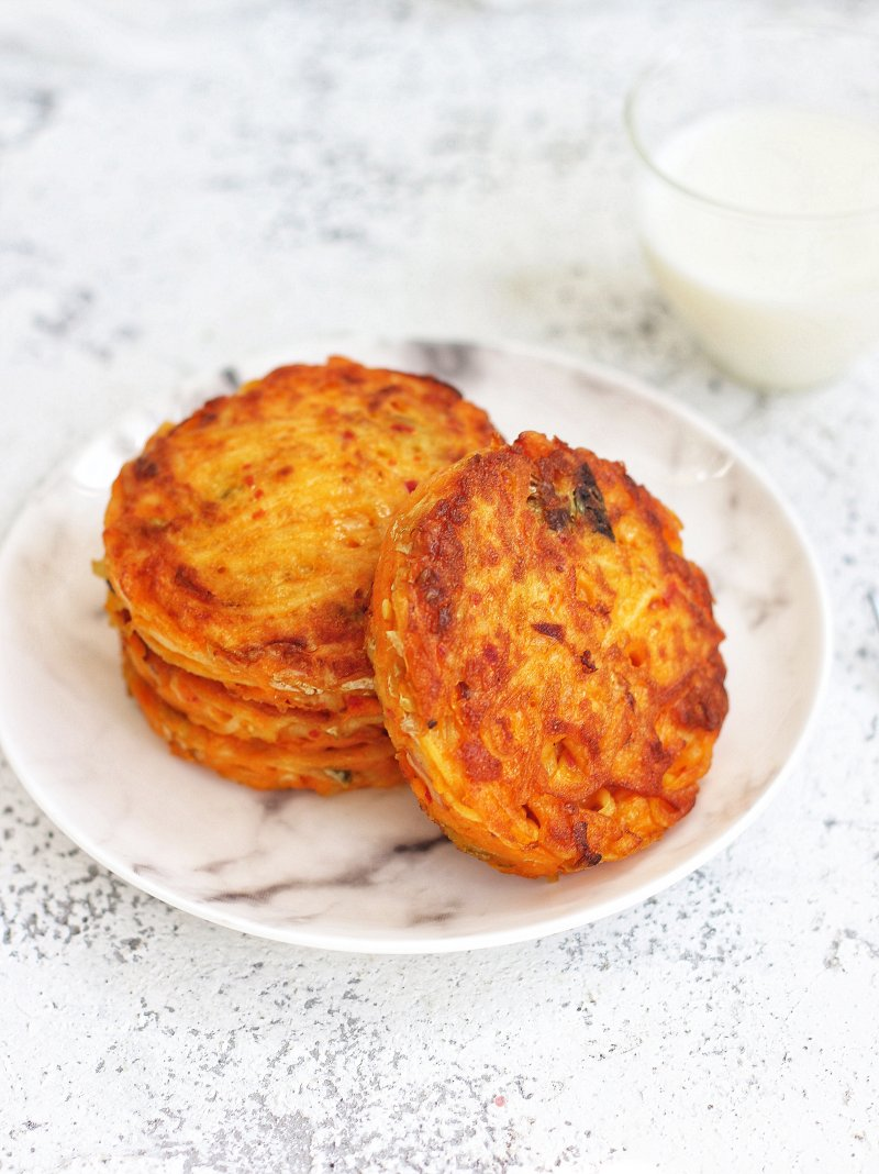 Kimchi potato cake for breakfast