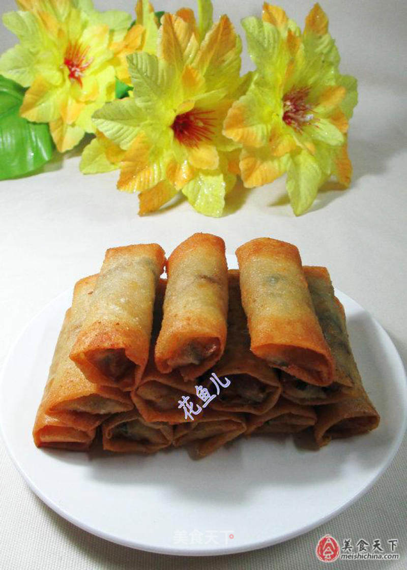 Spring roll with three fresh fillings