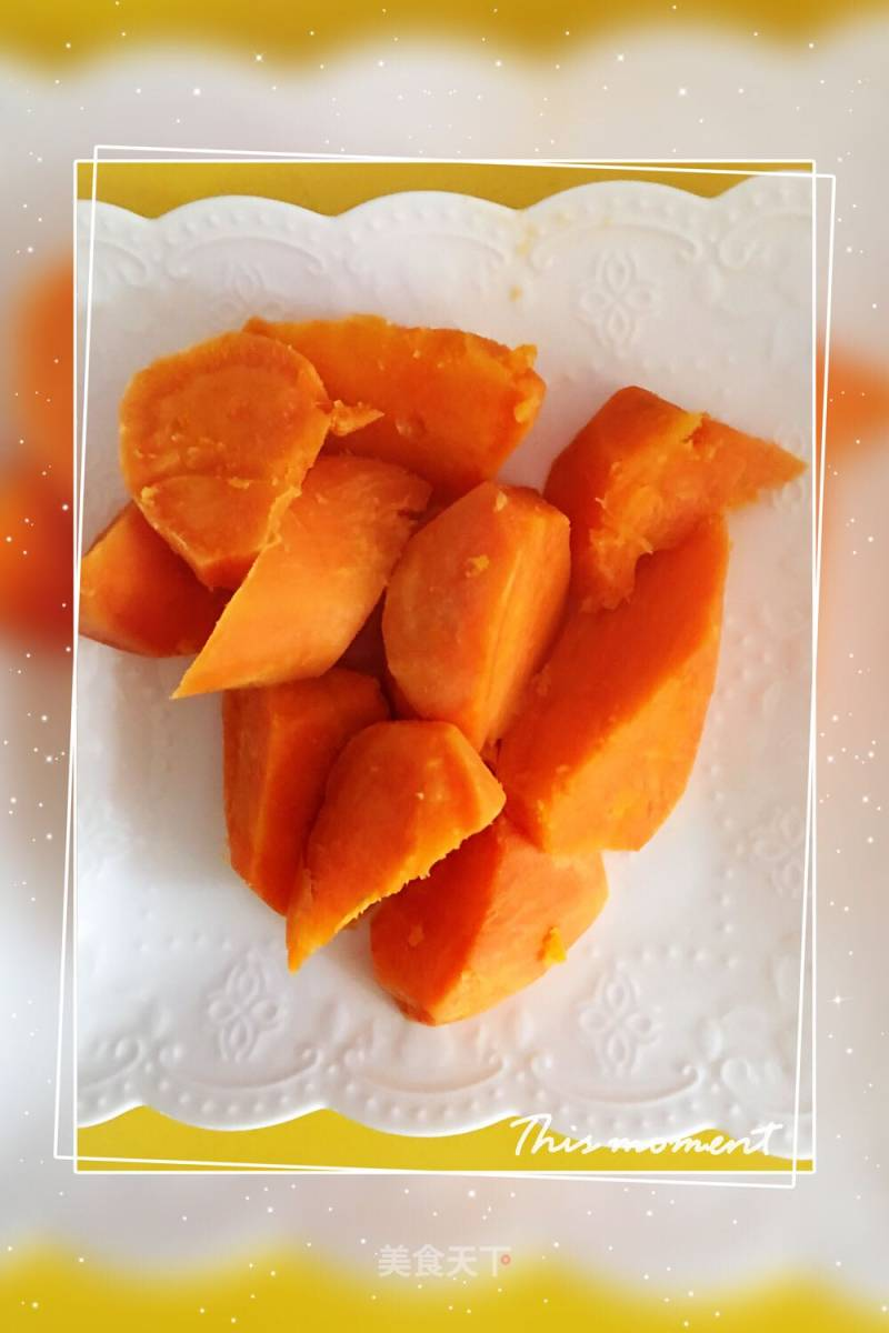 Microwave braised sweet potatoes