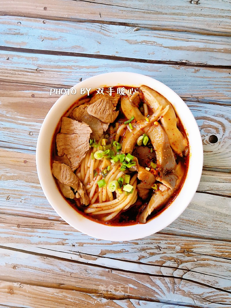 Spicy rice noodles with mutton
